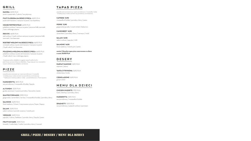 b52 menu